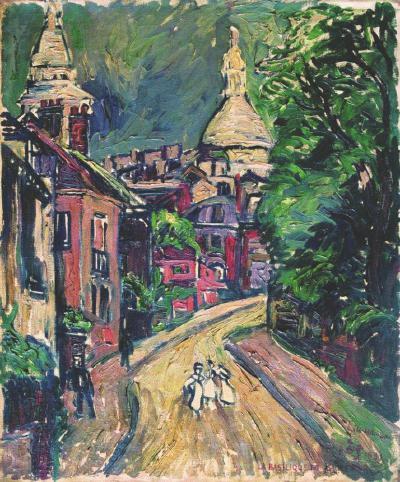 刘海粟《巴黎圣心院》,1931年