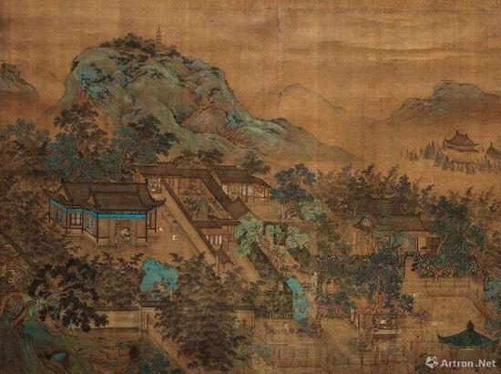 中国山水画十大画家_在古画中寻找消失的亭台楼阁|汉宫春晓图|古画|建筑_新浪收藏