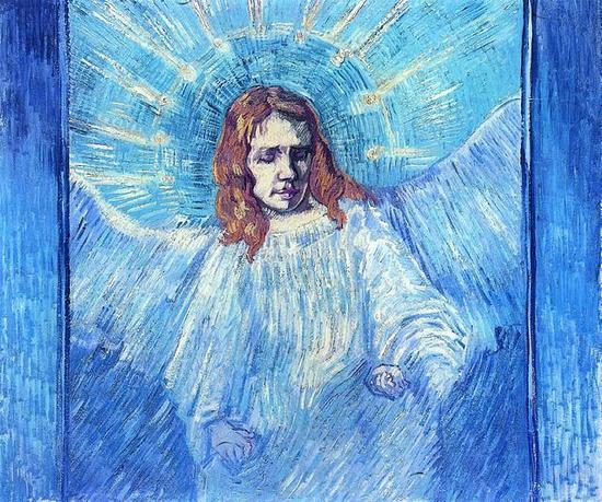 Head of an Angel, after Rembrandt - Vincent van Gogh, 1889