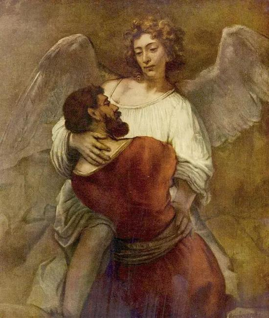 Jacob Wrestling with the Angel, Rembrandt, 1659