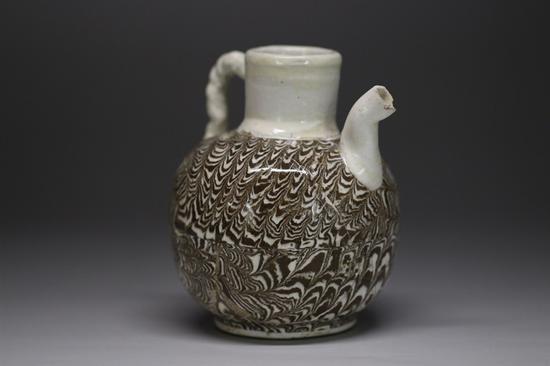 宋代當陽峪窯絞胎執壺