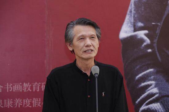 中国书法家协会副主席刘洪彪在开幕式上致辞