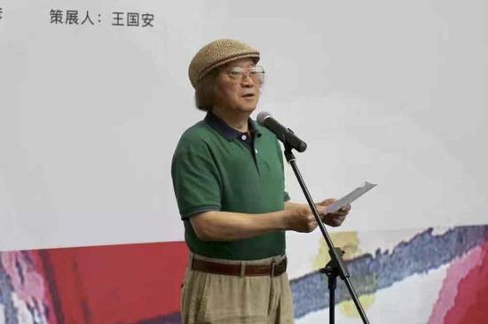 上海市美術家協會主席鄭辛遙開幕式致辭