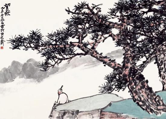吴悦石 望嶽 144×198cm 纸本设色 2015年