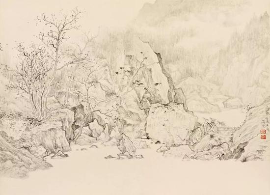 徐光聚 青城山写生册之二 32x45cm 纸本 2012