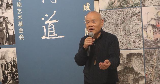 李小可先生在展覽開幕式上致辭