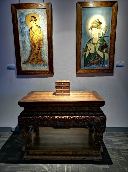 秀木林 清式龍紋雕供桌