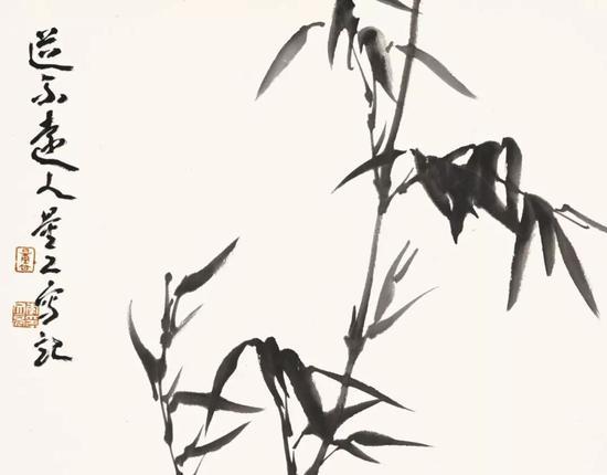 李文亮 道不远人 35×42cm 纸本水墨 2018