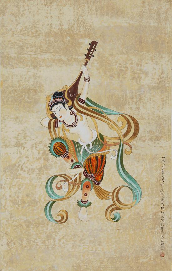 敦煌壁画反弹琵琶_嘉德在线中国书画4月大众收藏拍卖会_手机新浪网