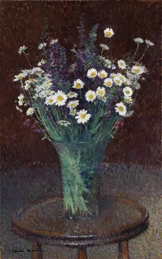 亨利•马丁  《雏菊花瓶》  百家湖博物馆馆藏