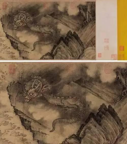 《石渠寶笈》記載為陳容《六龍圖》-