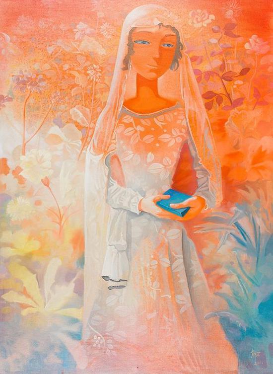 穿越时空的冥冥之光,熊宇,油彩画布,2011年。来源:上海泓盛