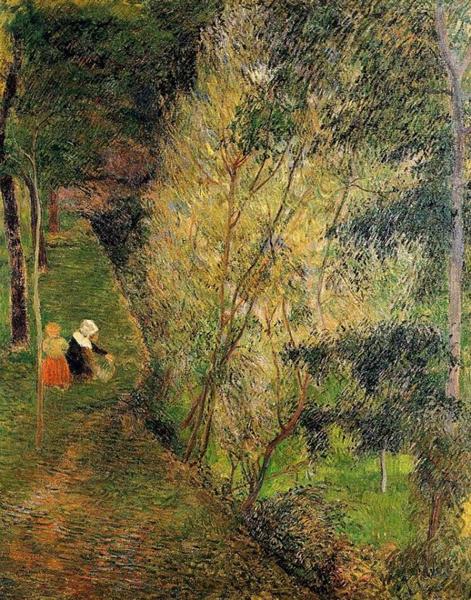 高更 Gauguin - Pont-Aven Woman And Child