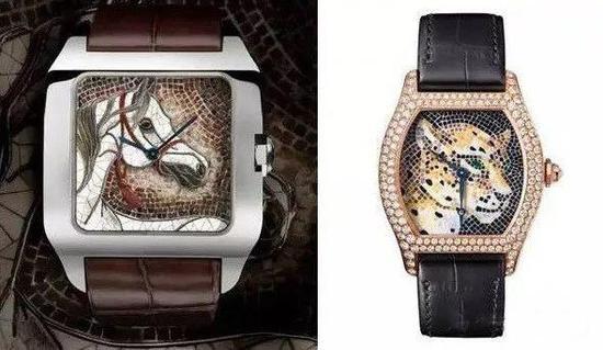 Santos-Dumont 駿馬裝飾腕表;Tortue腕表