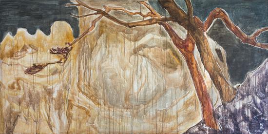山行系列之遠迎 郭利偉 布面丙烯 150×300cm 2015年