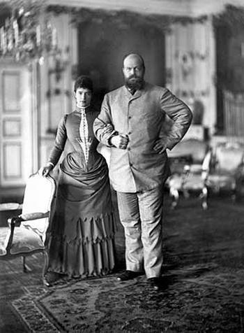 亞歷山大三世和皇后瑪利亞