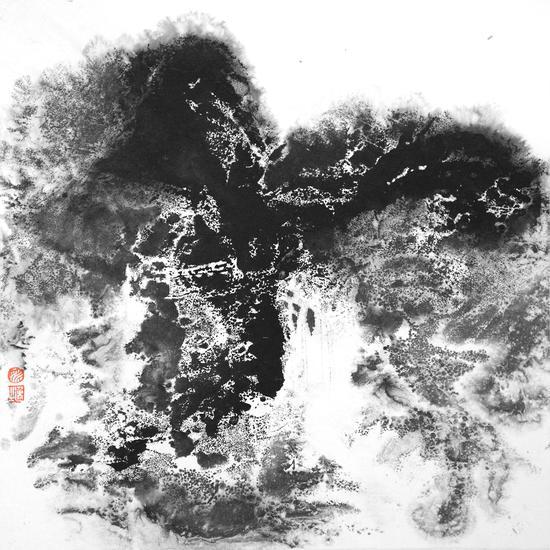 姚逸之 念在山水間 紙本水墨 28×28cm 2018