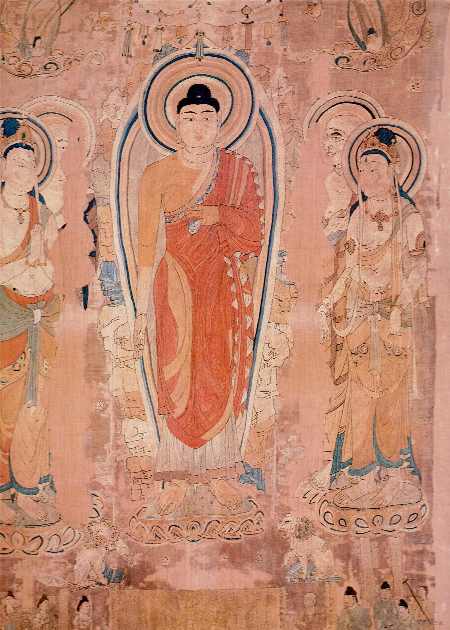 敦煌刺繡·涼州瑞像圖(大英博物館供圖)