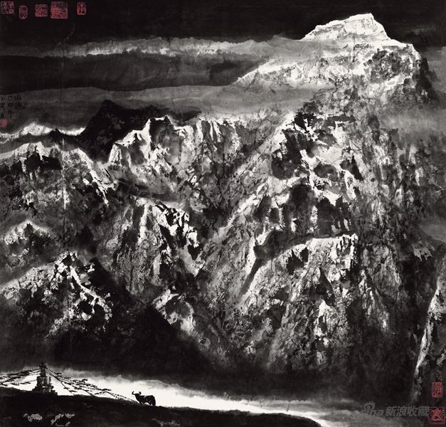 李小可 《山魂》 99x105cm 1999年 �本水墨