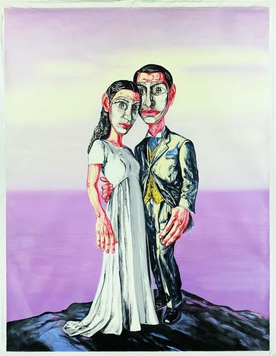 曾梵志面具系列 No.3 (marriage)2001