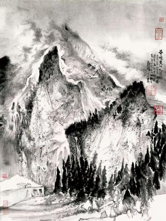 常朝晖 甘南藏族自治州扎尕那 50×35cm 纸本设色 2018