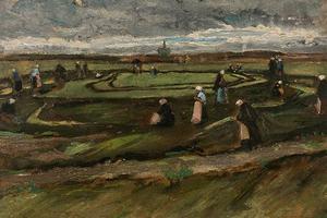 梵高早期《沙丘上补渔网的女子》将在法国上拍