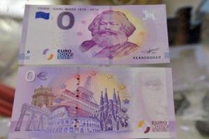 德国印刷面值为零钞票印上马克思头像 需花钱买