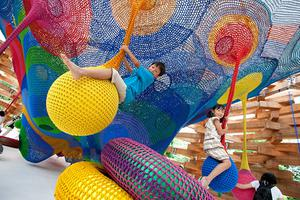 公共艺术:手工编织的游乐场