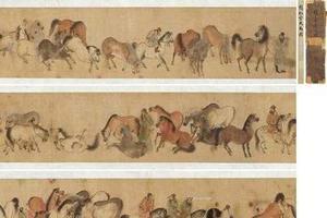 故宫藏画:元代画家赵孟頫《浴马图》