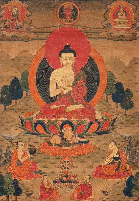 迦牟尼佛唐卡(18世紀)