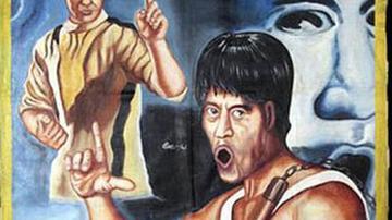 中国电影在非洲手绘海报画 收藏价上万