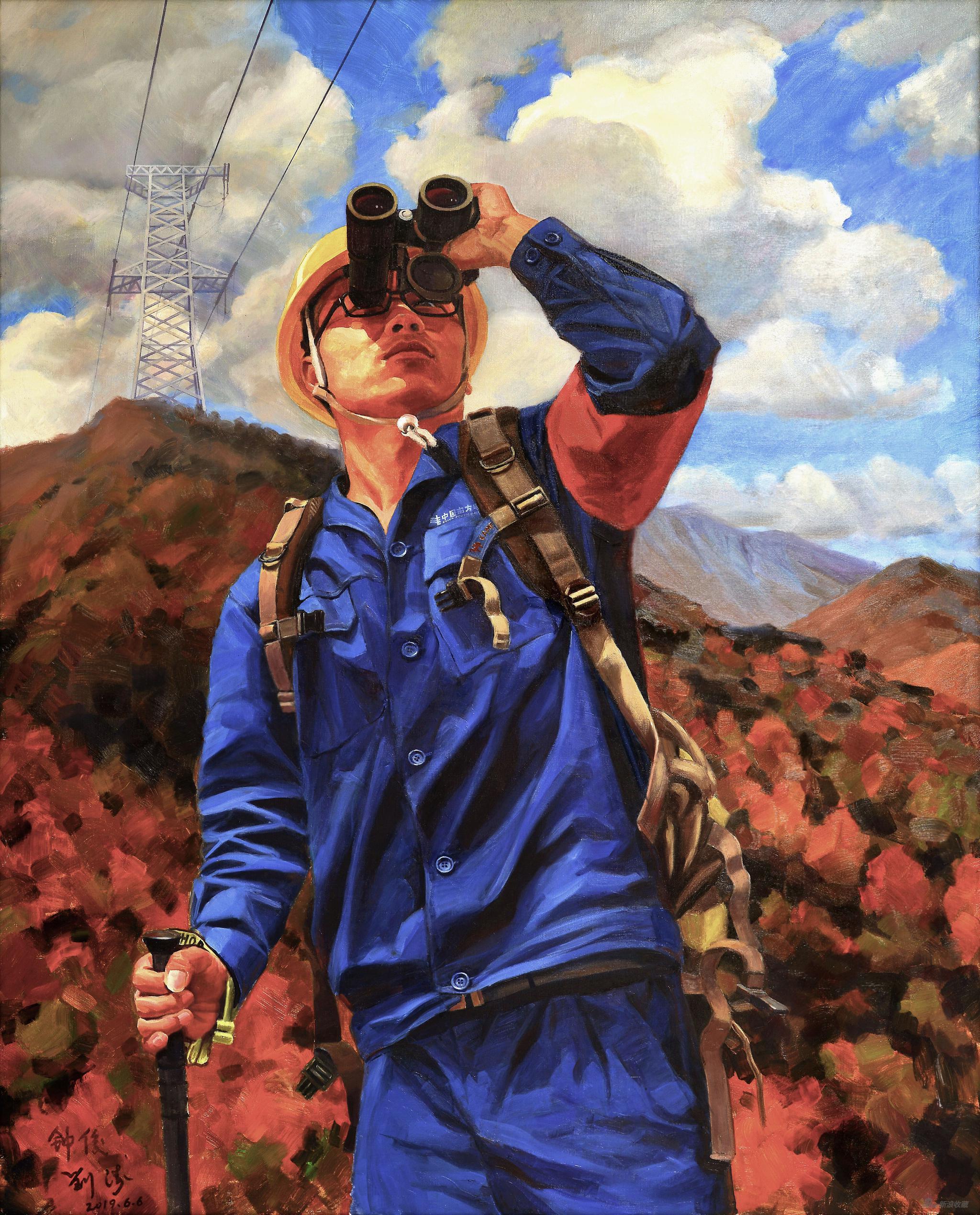 守望,布面油畫,150x120cm 2019年