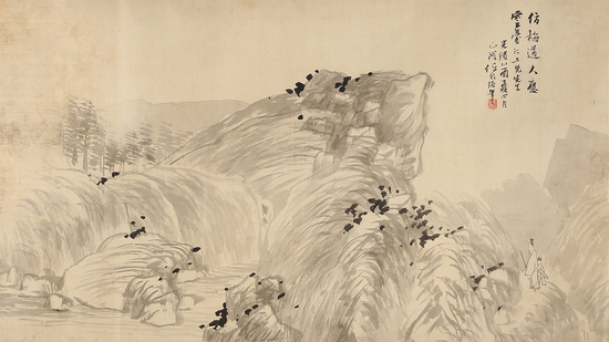 任伯年(1840~1895) 携琴访友图 起拍价RMB:600,000 成交价RMB:1,001,000