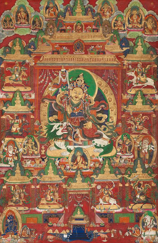 財寶天王紅卡(十八世紀)