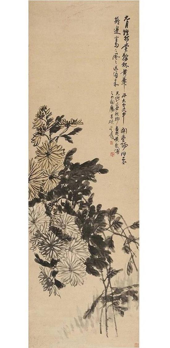 吴昌硕(1844~1927) 秋菊图 起拍价RMB:300,000 成交价RMB:649,000