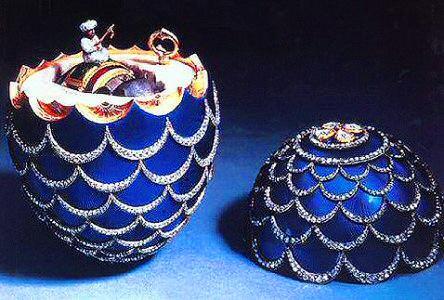 1900 克爾奇松果彩蛋 高9.5cm 現被私人收藏家收藏