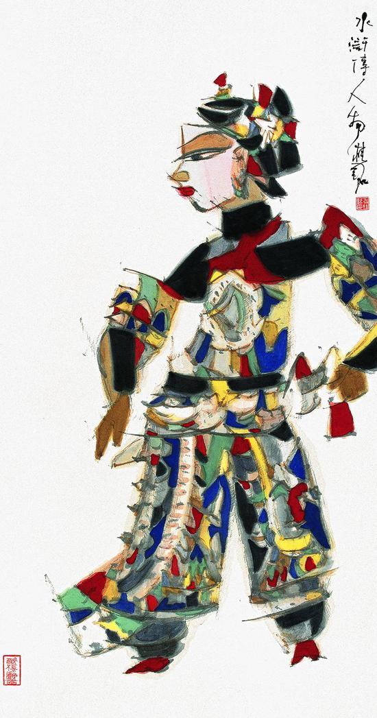 水滸人物 130x68cm 2007年