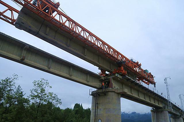 60米以上桥墩有40个!黔张常铁路铁炉堡特大桥贯通