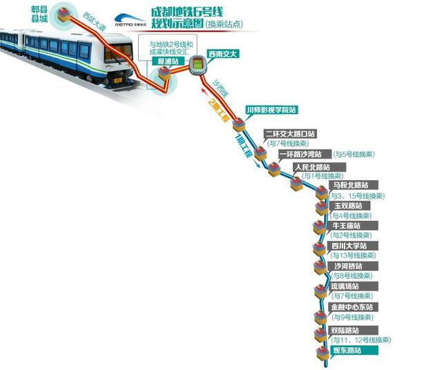 成都地铁2号线线路_成都地铁6号线走向站点确定 共25站直达郫县_新浪地方站_新浪网