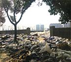 莊市清理遷地塊遍地垃圾