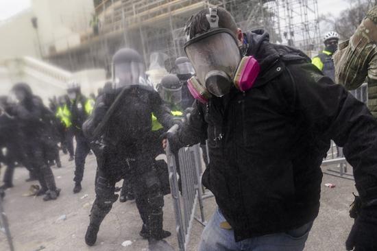 美国国会骚乱事件。(美联社)