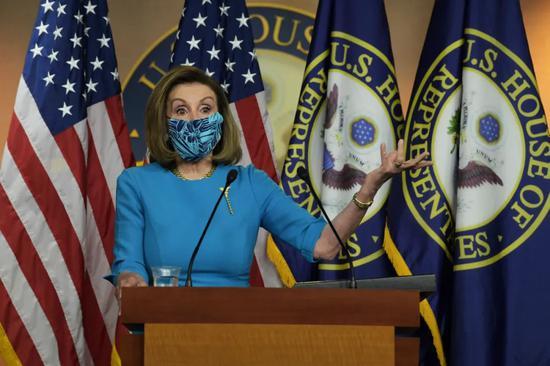 资料图:美国众议院议长佩洛西。/IC Photo