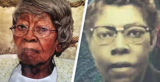 (图说:右图为老人年轻时照片。图/YouTube)