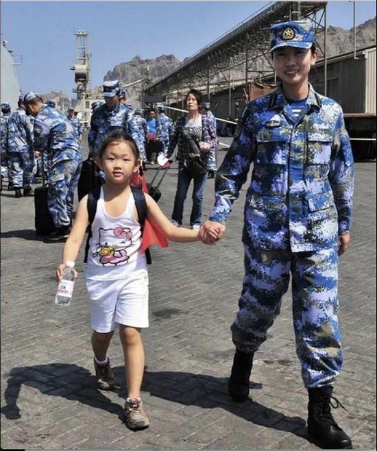 中国在也门撤侨