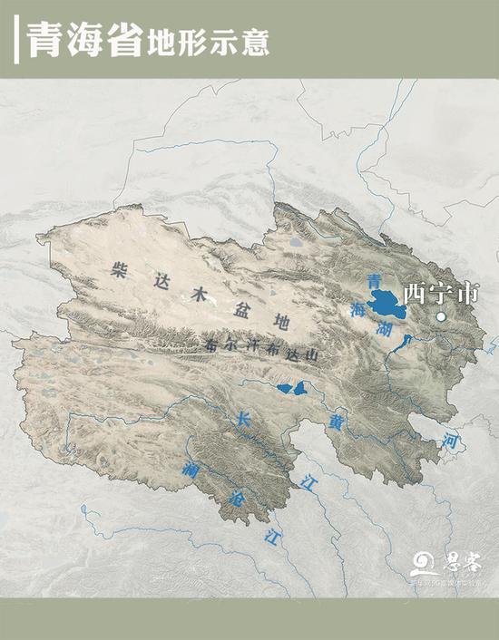 青海省地形示意图