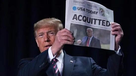 2019年9月至2020年2月的特朗普弹劾案,最终以参议院表决未通过落幕