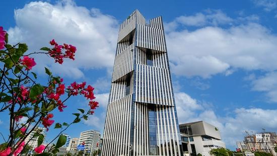 △总部位于上海的金砖国家新开发银行。(图/视觉中国)