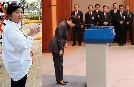 """涉及""""亲信干政""""的崔真实(左)与朴槿惠"""