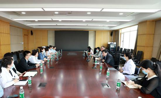 医院紧急召开疫情防控专题会议。盛京医院供图