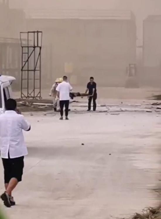 爆炸現場。視頻截圖